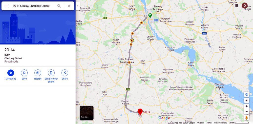 Карта Киев - Буки