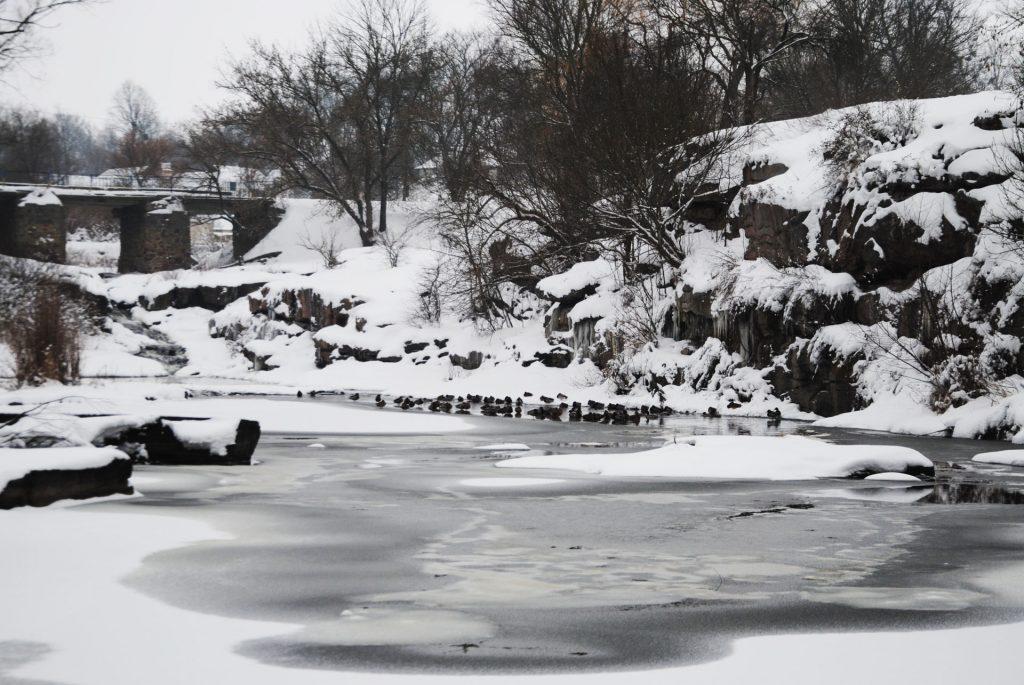 Качки зимою на березі Буцького каньйону.